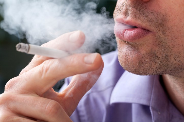 Patients who smoke during EBRT at increased risk of distant metastases and death from prostate cancer.