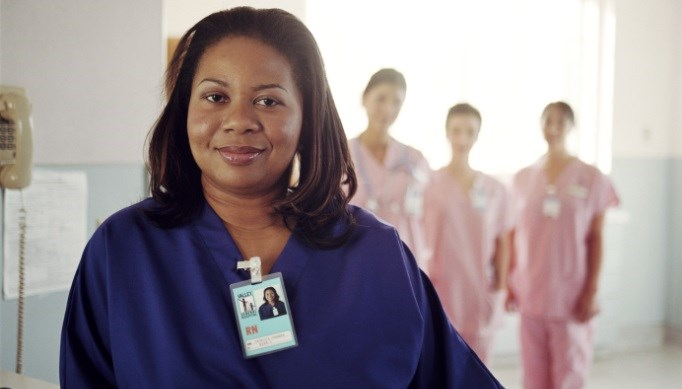 Black-African-American-woman-nurse-shift-work