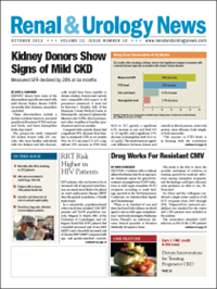 October 2013 Issue of Renal And Urology News