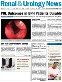 August 2015 Issue of Renal And Urology News