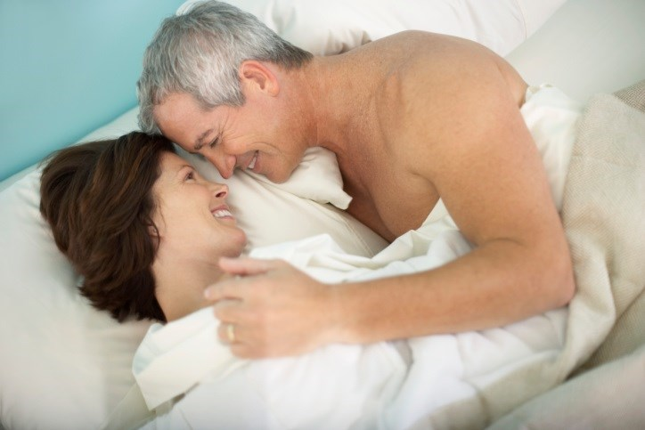 Gel hormone treatment led to improved libido, increased sexual activity.